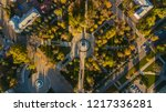 autumn aerial top down view of... | Shutterstock . vector #1217336281
