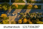 autumn aerial top down view of... | Shutterstock . vector #1217336287