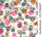 vector butterflies pattern.... | Shutterstock .eps vector #1217336407
