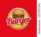burger logo design    Shutterstock .eps vector #1217337241