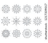 snowflakes icon collection.... | Shutterstock .eps vector #1217339017