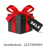 decorative black gift box with... | Shutterstock .eps vector #1217339434