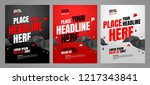 layout poster template design... | Shutterstock .eps vector #1217343841