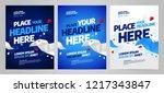 layout poster template design... | Shutterstock .eps vector #1217343847