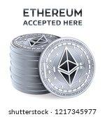 ethereum. accepted sign emblem. ... | Shutterstock .eps vector #1217345977