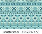 ikat pattern tribal ethnic...   Shutterstock .eps vector #1217347477