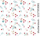 seamless christmas pattern with ... | Shutterstock .eps vector #1217353081