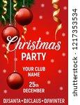 merry christmas vector poster ... | Shutterstock .eps vector #1217353534