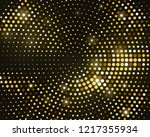 abstract black background with... | Shutterstock .eps vector #1217355934
