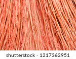background broom close up.... | Shutterstock . vector #1217362951