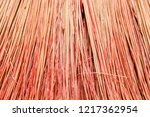 background broom close up.... | Shutterstock . vector #1217362954