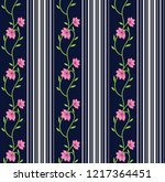 seamless pattern with flowers... | Shutterstock .eps vector #1217364451