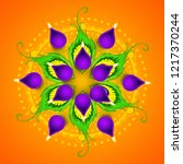 happy diwali elegant vector... | Shutterstock .eps vector #1217370244