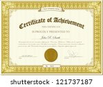 vector illustration of gold... | Shutterstock .eps vector #121737187