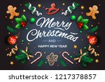 christmas greeting card with... | Shutterstock .eps vector #1217378857