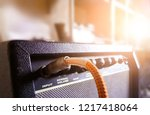 guitar amplifier with audio... | Shutterstock . vector #1217418064