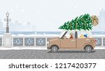 mother and son riding the car...   Shutterstock .eps vector #1217420377