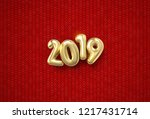 happy new 2019 year. holiday... | Shutterstock .eps vector #1217431714
