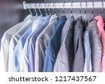 multi colored men's business... | Shutterstock . vector #1217437567