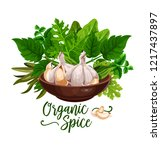 organic spices poster of... | Shutterstock .eps vector #1217437897