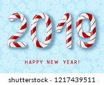 new year concept   2019 candy... | Shutterstock .eps vector #1217439511