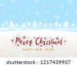 winter snow landscape for your... | Shutterstock .eps vector #1217439907