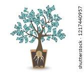 money tree. isolated vector... | Shutterstock .eps vector #1217440957