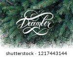 hello december hand lettering... | Shutterstock . vector #1217443144