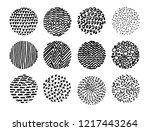 set of irregular hand drawn... | Shutterstock .eps vector #1217443264