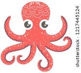 cute illustration of octopus...   Shutterstock .eps vector #1217445124