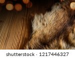 rustic wooden table with a... | Shutterstock . vector #1217446327