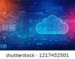 2d rendering cloud computing ... | Shutterstock . vector #1217452501