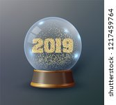 vector snow globe or christmas... | Shutterstock .eps vector #1217459764