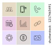 set of 9 icons  for web ... | Shutterstock .eps vector #1217465491