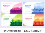 farming life brochure cards set.... | Shutterstock .eps vector #1217468824
