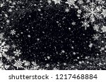 snow flakes over black... | Shutterstock . vector #1217468884