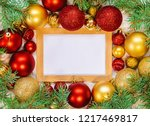 christmas background. happy new ... | Shutterstock . vector #1217469817