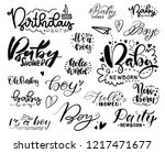set of pictures for decorating... | Shutterstock .eps vector #1217471677