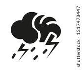 thunderstorm icon. trendy... | Shutterstock .eps vector #1217473447