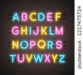the english alphabet capital... | Shutterstock .eps vector #1217475724