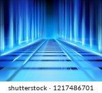 abstract virtual space. vector... | Shutterstock .eps vector #1217486701