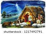 Traditional Christmas Scene...