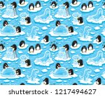winter seamless pattern with... | Shutterstock .eps vector #1217494627