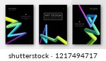 creative colorful cover set.... | Shutterstock .eps vector #1217494717
