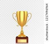 realistic golden 3d trophy cup... | Shutterstock .eps vector #1217496964