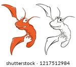 vector illustration of a cute... | Shutterstock .eps vector #1217512984