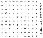 100 icons in the vector for the ... | Shutterstock .eps vector #1217524297