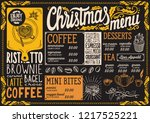 christmas menu template for...   Shutterstock .eps vector #1217525221