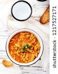 traditional italian dish  ... | Shutterstock . vector #1217527171