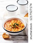 traditional italian dish  pasta ... | Shutterstock . vector #1217527174